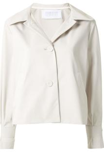 Harris Wharf London Cropped A-Line Jacket - Branco