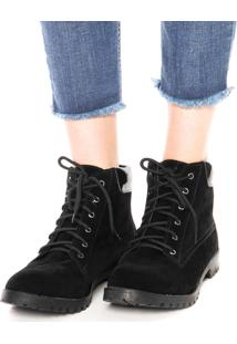 Bota Dafiti Shoes Textura Preto