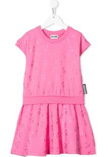 Moschino Kids Vestido Com Estampa Teddy Bear - Rosa