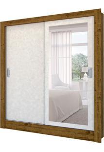 Guarda-Roupa Casal Com Espelho Bavária 2 Pt 2 Gv Canelato E Natural