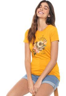 Camiseta Aeropostale Floral Amarela
