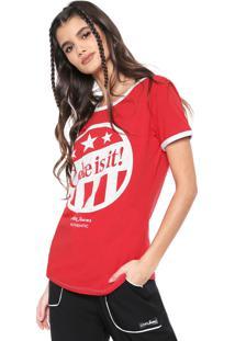 Camiseta Coca-Cola Jeans Lettering Vermelho