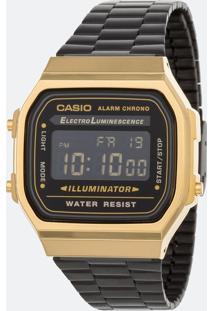 Relógio Unissex Casio A168Wegb-1Bdf Digital
