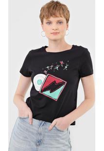 Camiseta Cantão Vinil Preta