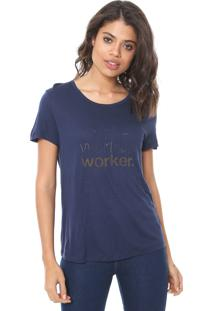 Camiseta Forum Worker Azul-Marinho