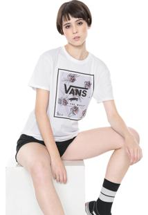 Camiseta Vans Boyfriend Wm Paradise Floral Branca