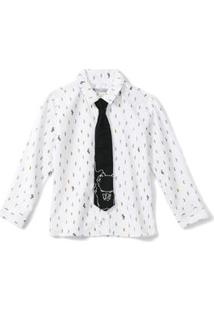 Camisa Com Gravata Tigor T. Tigre Branca Menino