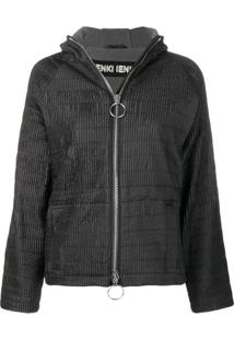 Ienki Ienki Zipped Hooded Track Jacket - Preto