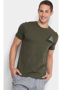 Camiseta Puma Tri Retro Masculina - Masculino c06e52eb39d55