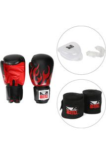 538aaae5d Kit Luva De Boxe   Muay Thai Bad Boy 12 Oz + Bandagem Elástica Bad Boy