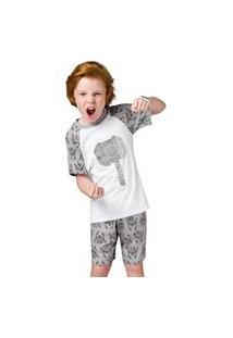 Pijama Juvenil Veggi Malha Deus Do Trovão