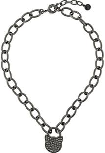 Karl Lagerfeld K/Lock Choupette Necklace - Preto