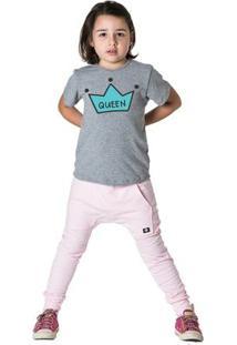 Calça Infantil Saruel Comfy Feminina - Feminino-Rosa