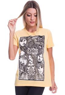 Camiseta Jazz Brasil Pink Floyd Face Amarela - Amarelo - Feminino - Algodã£O - Dafiti