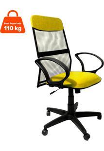 Cadeira De Escritório Diretor Costaneira Soft Amarelo