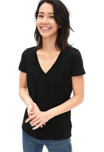 Camiseta Gap Básica Preta