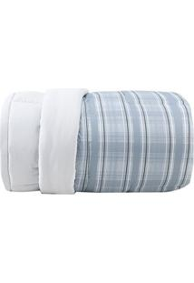 Edredom Essence King Size- Cinza & Azul- 260X280Cm