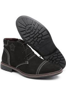 Bota Top Franca Shoes C/ Ziper Masculino - Masculino-Preto