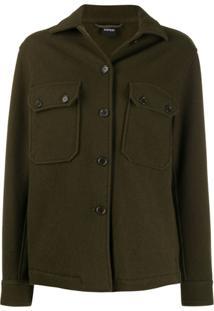 Aspesi Fitted Wool Jacket - Verde