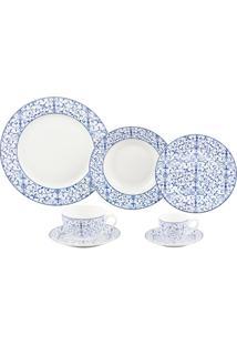 Jogo De Jantar De Porcelana Abstract Hb 42 Peças - Unissex