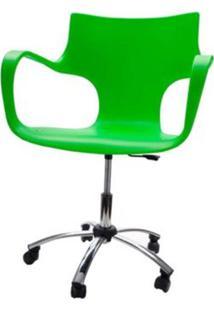 Cadeira Jim Base Giratoria Cromada Cor Verde - 22595 - Sun House