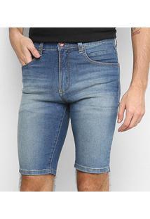 Bermuda Jeans Hd Slim 5729A Masculina - Masculino-Azul