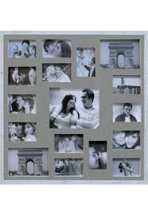 Painel De Fotos Bee Collection 73X73 Rustics 14 Fotos 10X15 E 2 Fotos 15X21 Branco Kapos