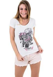 Camiseta Aes 1975 Eagle Ll Feminina - Feminino-Branco