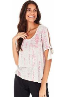 Camiseta Sidewalk Tie Dye Feminina - Feminino-Rosa
