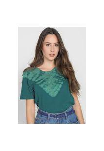 Camiseta Cativa Tie Dye Verde