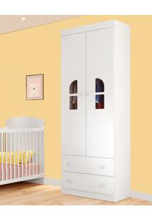 Guarda-Roupa De Bebe 2 Portas Bolinha De Sabão Plus Branco - Multimóveis