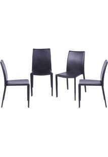 Jogo De Cadeiras De Jantar Glam- Marrom- 4Pã§S- Oor Design