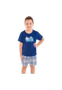 Pijama Infantil Para Menino Para O Verão Victory