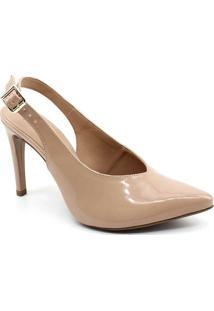 Sapato Chanel Mixage Verniz - Feminino-Bege