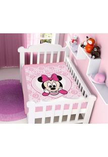 Cobertor Disney Rosa Minnie Coração Jolitex