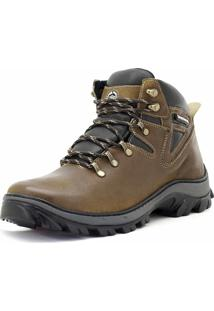 Bota Adventure Em Couro Atron Shoes Castor