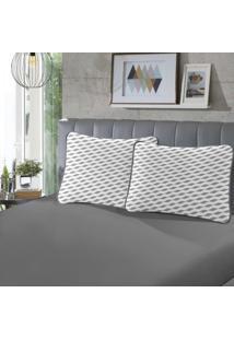 Fronha Para Travesseiro Rubi Pada 1 Peça Luna E Cinza - Sbx Têxtil