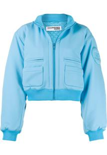 Courrèges Jaqueta Bomber Cropped - Azul