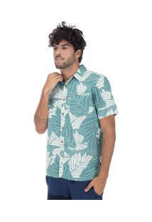Camisa Hurley Sig Zane Ululoa - Masculina - Bege