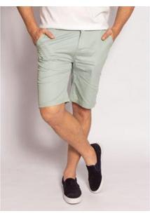 Bermuda Aleatory Sarja Clever Masculina - Masculino-Verde