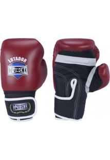 Luvas De Boxe Punch Amador - 12 Oz - Adulto - Vermelho