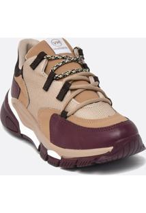 Tênis Feminino Chunky Sneaker Recortes Via Marte