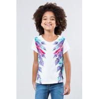 81bc372ed5 Camiseta Infantil Penas Laterais Reserva Mini Feminina - Feminino-Branco