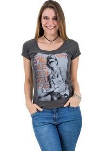 Camiseta Aes 1975 Happiness Feminina - Feminino-Preto