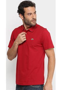 e76b13c21ba Camisa Polo Lacoste Super Light Masculina - Masculino-Vermelho+Preto