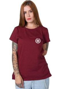 Camiseta Stoned Basic Feminina - Feminino-Bordô