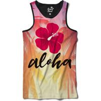 Camiseta Regata Long Beach Aloha Sublimada Roxo b3c5fe570cc