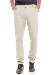 Calça Sarja Lemier Jeans Collection Slim Fit Color Areia