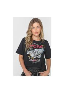 Camiseta Cropped My Favorite Thing(S) Born To Ride Preta