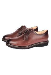 Sapato Social Savelli Masculina Couro Macio Leve Conforto Marrom 37
